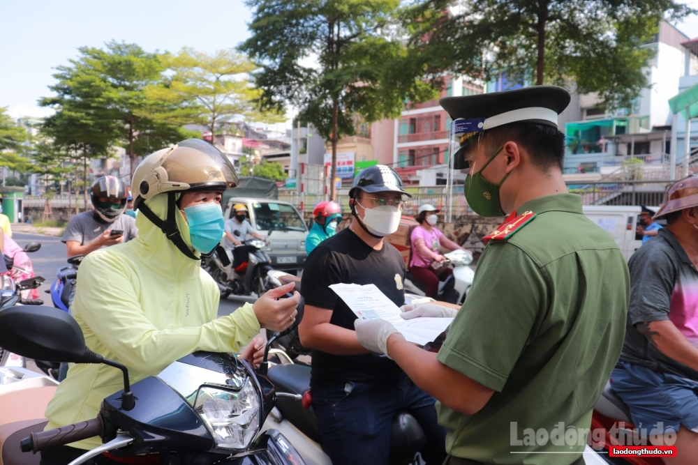 Cấp giấy đi đường có nhận diện cho người và phương tiện trong vùng 1