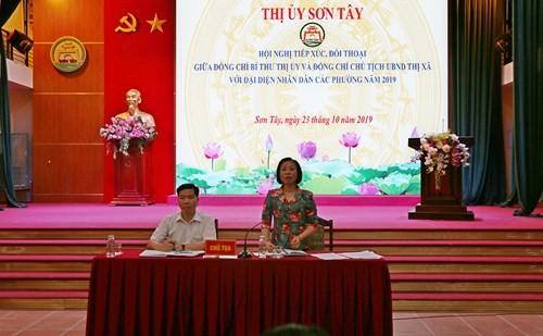 """Thị xã Sơn Tây: Đối thoại để kịp thời """"gỡ"""" những vấn đề dư luận quan tâm"""