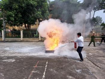 Sơn Tây: Tổ chức tập huấn phòng cháy chữa cháy và cứu nạn cứu hộ