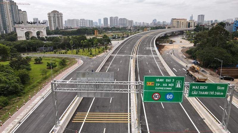 Khánh thành cầu cạn Mai Dịch - Nam Thăng Long thuộc đường Vành đai 3
