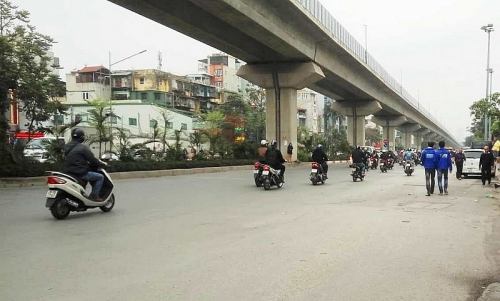Hà Nội phân luồng giao thông sửa đường Quang Trung