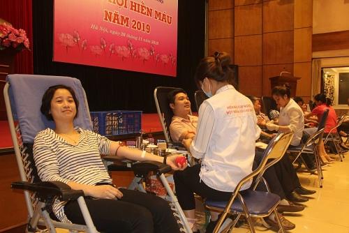 Sôi nổi tham gia phong trào hiến máu tình nguyện năm 2019