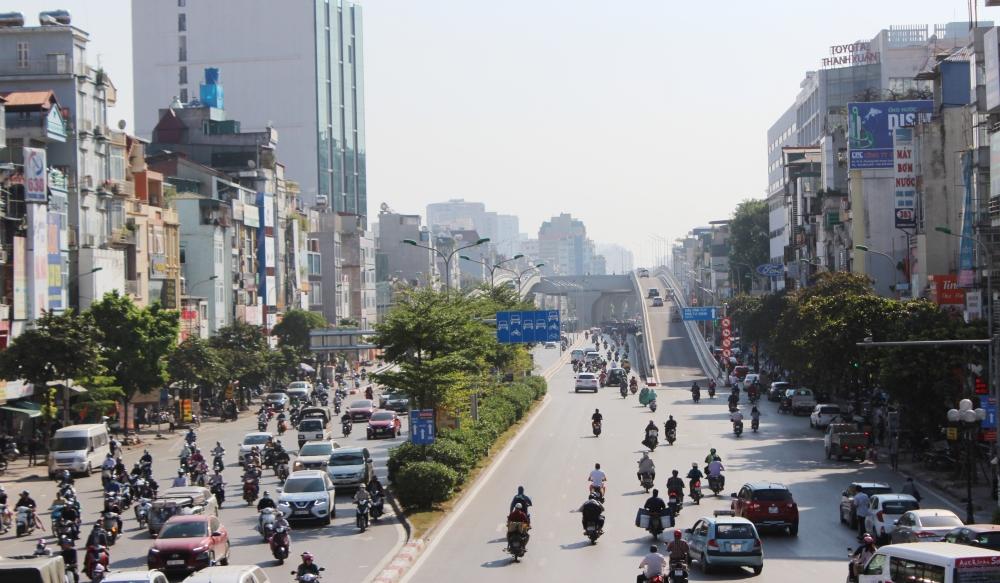Áp lực giao thông được san sẻ ngày đầu thông xe Vành đai 2 đoạn Ngã Tư Sở - Ngã Tư Vọng