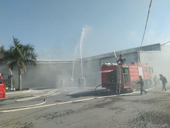 Tổ chức diễn tập chữa cháy, cứu hộ, cứu nạn tại nhà máy sữa Ba Vì