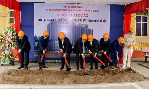 Khởi công xây dựng, nâng cấp Bệnh viện Đa khoa Sơn Tây