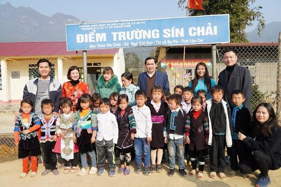 Tập đoàn Central Retail Việt Nam bàn giao 2 phòng học kiên cố tại điểm trường Sín Chải, Lào Cai