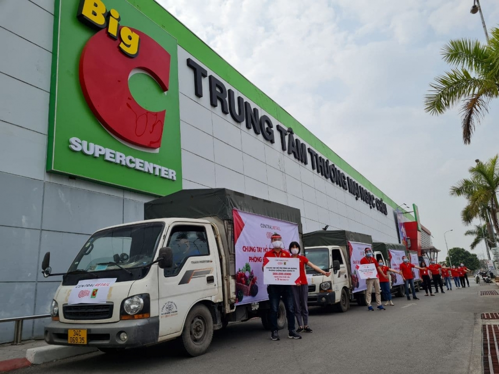 Central Retail Việt Nam tiếp sức tỉnh Hải Dương và Quảng Ninh chống dịch Covid-19