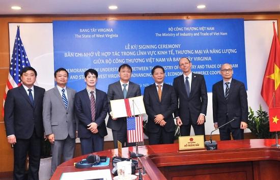 Bộ Công Thương ký kết biên bản ghi nhớ hợp tác (MOU) với Bang Tây Virginia - Hoa Kỳ