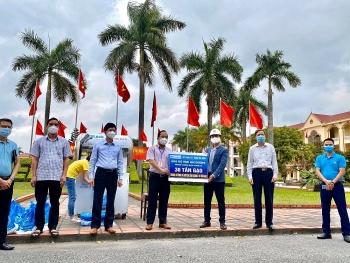 Tập đoàn Hòa Bình ủng hộ 30 tấn gạo và xây dựng cây ATM gạo hỗ trợ người dân Hải Dương