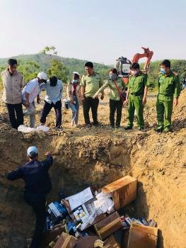 Gần 1.500 bao thuốc lá nhập lậu bị tiêu hủy tại Phú Yên