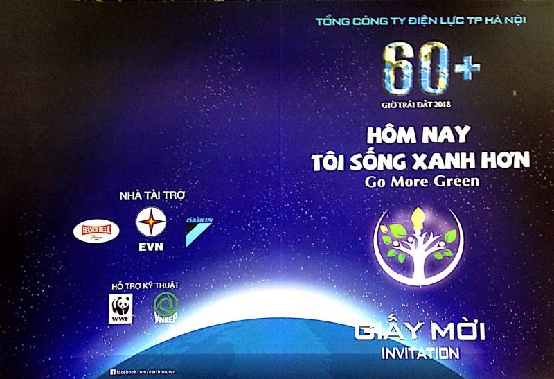 EVN Hà Nội tổ chức 'Lễ hưởng ứng chiến dịch Giờ Trái đất năm 2018'