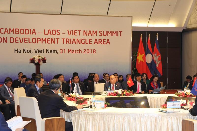 Hội nghị Cấp cao Campuchia - Lào - Việt Nam chính thức diễn ra