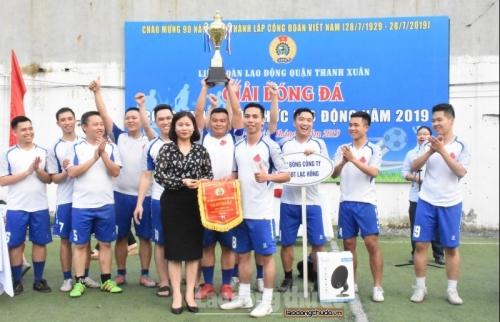 Bế mạc Giải Bóng đá CNVCLĐ quận Thanh Xuân năm 2019