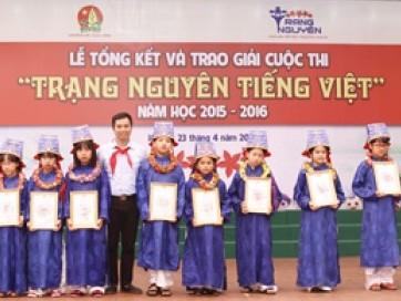20 học sinh được trao giải Trạng Nguyên Tiếng Việt