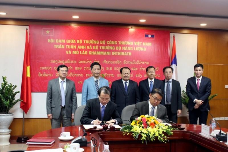 Việt Nam-Lào tăng cường hợp tác lĩnh vực năng lượng và khoáng sản