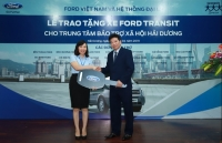 Ford Việt Nam tặng xe Transit cho Trung tâm Bảo trợ Xã hội Hải Dương