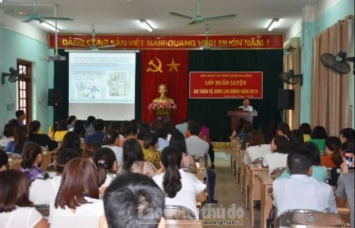 140 học viên tham gia tập huấn An toàn vệ sinh lao động năm 2019