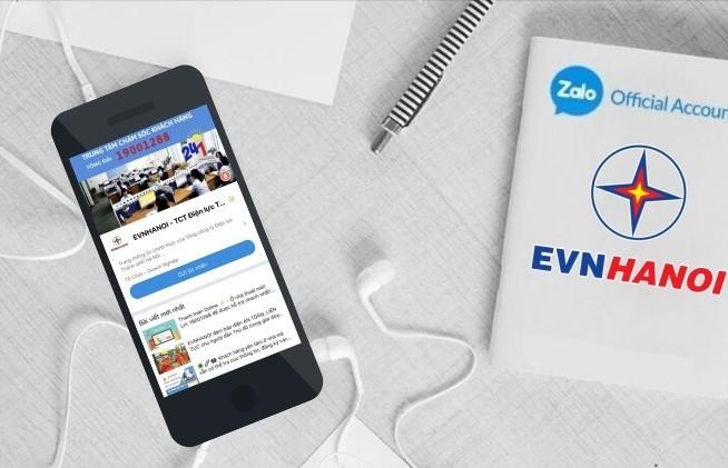 EVN Hà Nội phát triển trang EVNHANOI trên ứng dụng Zalo