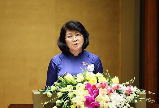 Miễn nhiệm Phó Chủ tịch nước Đặng Thị Ngọc Thịnh, đề cử bà Võ Thị Ánh Xuân để Quốc hội bầu làm Phó Chủ tịch nước