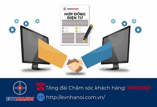 EVN Hà Nội triển khai ký lại hợp đồng mua bán điện theo phương thức điện tử