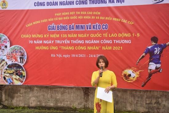 Đoàn viên Công đoàn ngành Công Thương Hà Nội hưởng ứng đợt thi đua cao điểm năm 2021