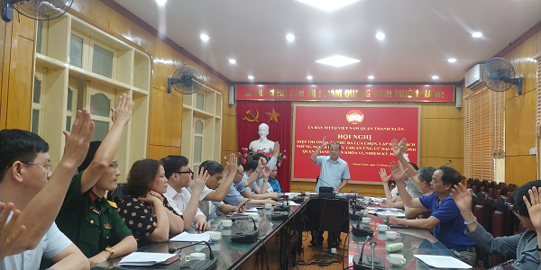 Thanh Xuân tổ chức hiệp thương lần ba, chốt danh sách người ứng cử đại biểu Hội đồng nhân dân quận