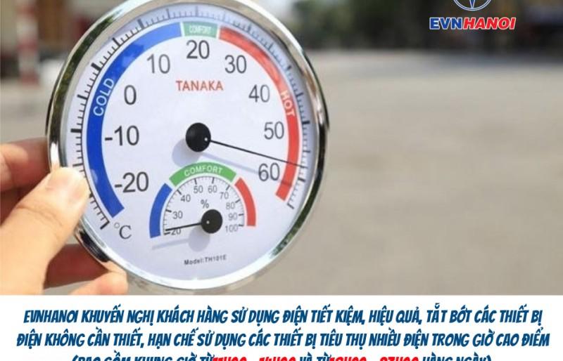 Nắng nóng khiến lượng tiêu thụ điện tăng cao