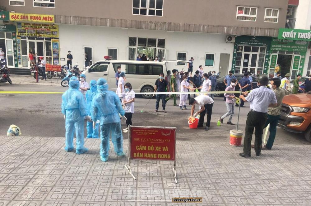 Xã Cự Khê (Thanh Oai): Dỡ phong tỏa tòa tầng 12 tòa nhà HH02B khu đô thị Thanh Hà