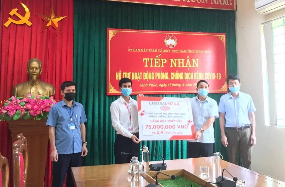 Central Retail tiếp sức cho tuyến đầu chống dịch Covid-19 ở Bắc Giang và Vĩnh Phúc