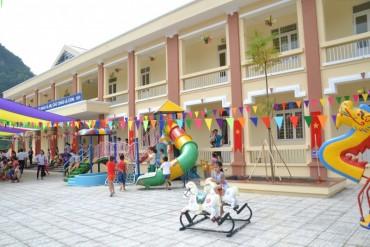 Khánh thành và gắn biển công trình Trường Mầm non Đào Ngạn, Cao Bằng