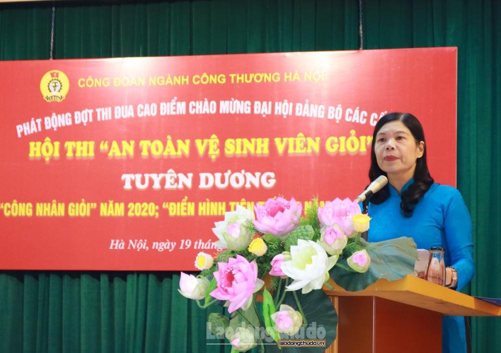 cong doan nganh cong thuong ha noi phat dong dot thi dua cao diem chao mung dai hoi dang bo cac cap