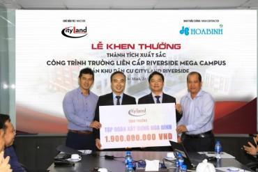 Tập đoàn Xây dựng Hòa Bình được thưởng gần 2 tỷ đồng