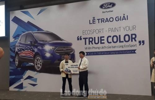 """Trao giải cho 10 cá nhân xuất sắc nhất cuộc thi Ford EcoSport Paint Your """"True Color'"""
