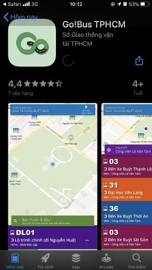 Go!Bus cung cấp thông tin vận tải hành khách công cộng trên thiết bị di động qua ứng dụng Grab
