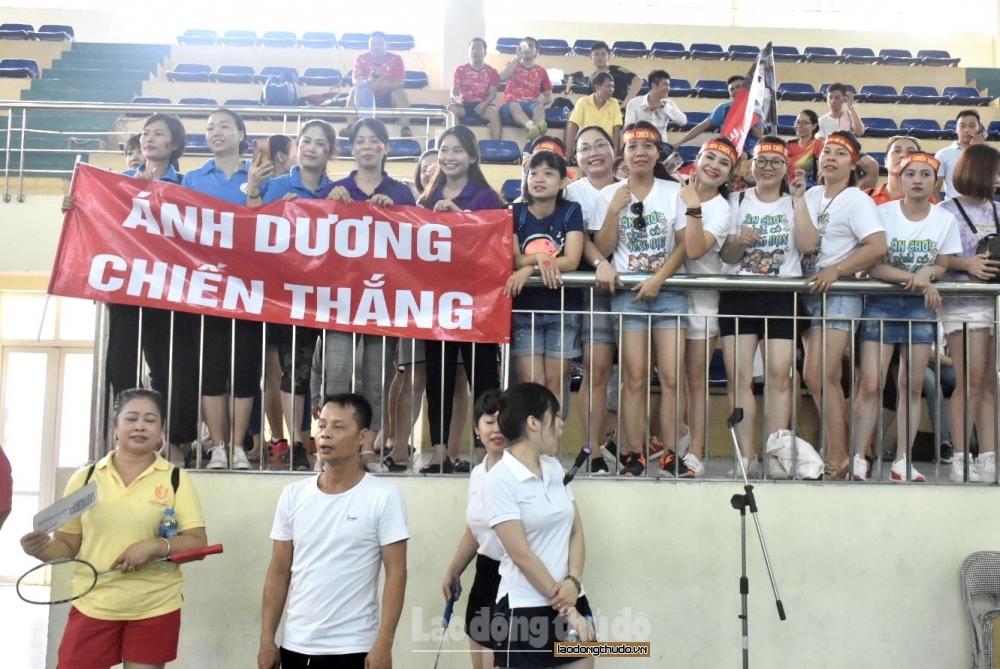 125 vận động viên tham dự Giải Cầu lông CNVCLĐ quận Thanh Xuân 2020