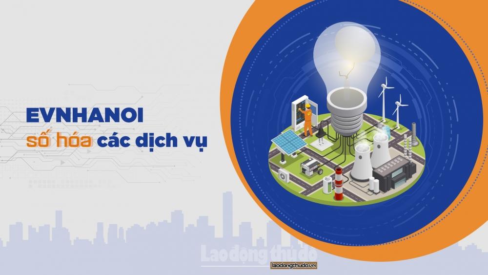 Dễ dàng đăng ký các dịch vụ về điện ngay trên App EVNHANOI