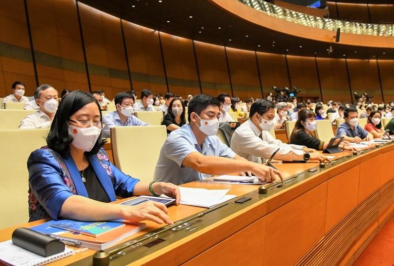 Quốc hội đồng ý thông qua số lượng thành viên Chính phủ khóa XV gồm 27 thành viên