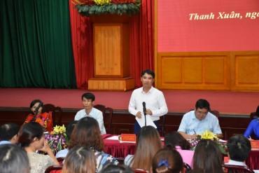 Lãnh đạo quận Thanh Xuân đối thoại với doanh nghiệp và người lao động