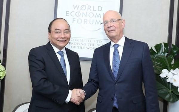 Thủ tướng Nguyễn Xuân Phúc tiếp Chủ tịch Điều hành WEF