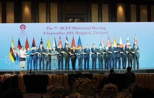 Hội nghị Bộ trưởng RCEP lần thứ 7: Tiến tới kết thúc đàm phán vào cuối năm 2019