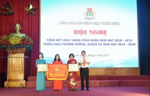Quận Thanh Xuân: Tổng kết hoạt động Công đoàn năm học 2018 - 2019