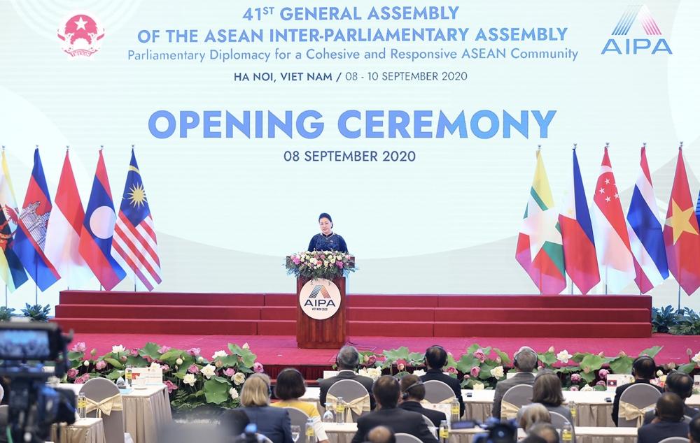 Đại Hội đồng Liên nghị viện ASEAN chính thức khai mạc sáng 8/9