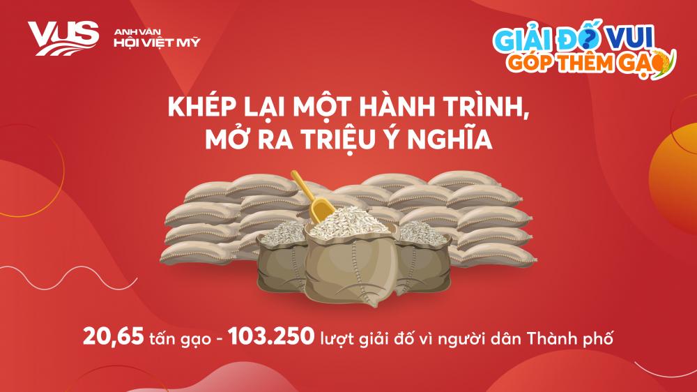 Hơn 20 tấn gạo được đóng góp từ hoạt động vì cộng đồng của VUS