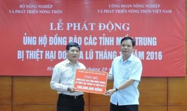 Phát động quyên góp ủng hộ nhân dân miền Trung bị lũ lụt
