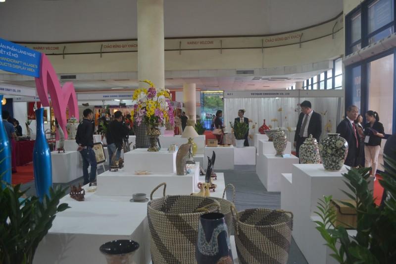 Hơn 650 gian hàng tham gia Hội chợ quốc tế quà tặng hàng thủ công mỹ nghệ Hà Nội