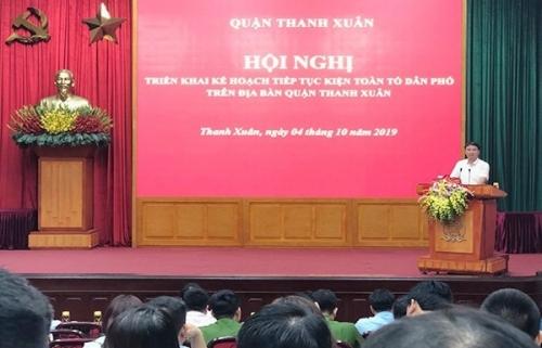 Quận Thanh Xuân: Tiếp tục tổ chức hội nghị kiện toàn tổ dân phố