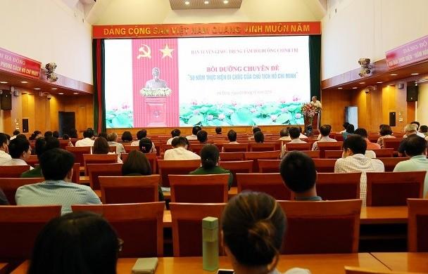 Quận ủy Hà Đông: Bồi dưỡng chuyên đề 50 năm thực hiện Di chúc của Bác
