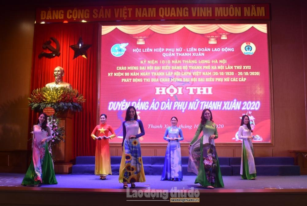 """Tưng bừng Hội thi """"Duyên dáng áo dài"""" quận Thanh Xuân năm 2020"""