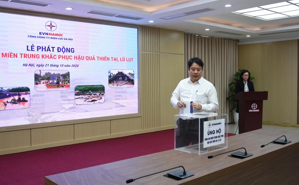 EVN Hà Nội quyên góp gần 1 tỷ đồng ủng hộ đồng bào miền Trung khắc phục thiên tai