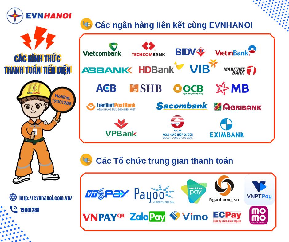 Thanh toán tiền điện qua ngân hàng và các tổ chức trung gian: Tiện lợi, an toàn